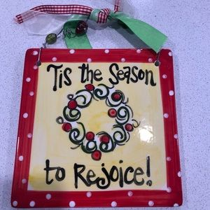 """Other - Holiday Tile Chistmas """"Tis the season to rejoice"""""""
